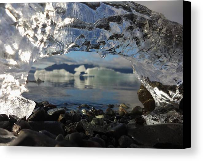 Iceberg Canvas Print featuring the photograph Ice Arch by Sarah Pemberton