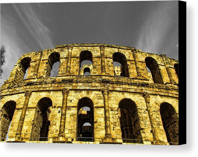 Architectur Canvas Print featuring the painting In The Shade Of Time by Dhouib Skander