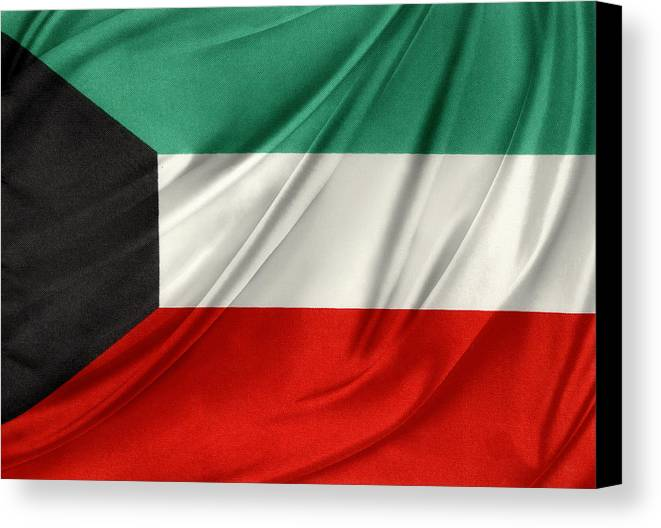 Flag Canvas Print featuring the photograph Kuwait Flag by Les Cunliffe