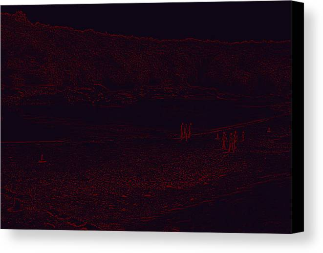 Planet Canvas Print featuring the digital art Mars by Bliss Of Art