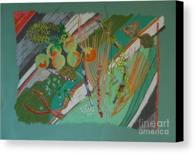 Still Life Canvas Print featuring the painting Methow Valley Porch by Judith Van Praag