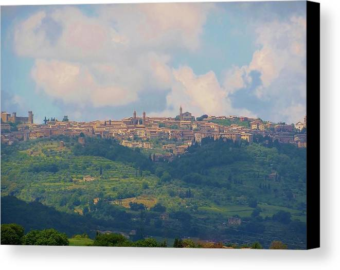 Tuscany Canvas Print featuring the photograph Montalcino by Marilyn Dunlap