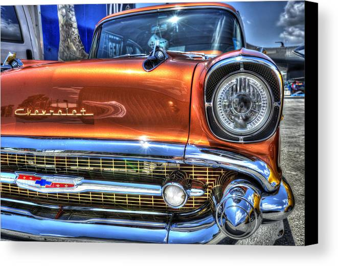 Chevy Canvas Print featuring the photograph Old Chevy by Armando Perez