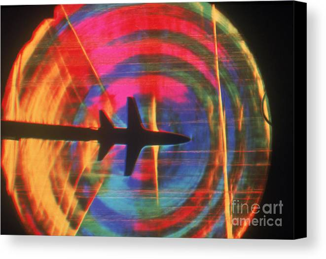 Shock Wave Canvas Print featuring the photograph Schlieren Image Of Aircraft by Garry Settles