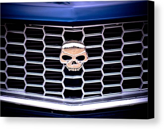 Mazda Rx3 Canvas Print featuring the photograph Skull Grill by Phil 'motography' Clark