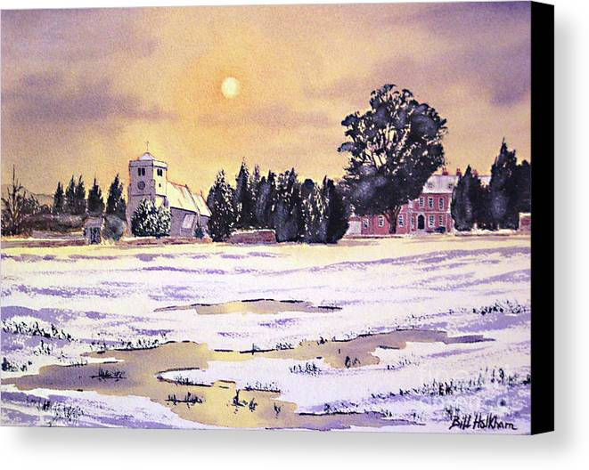 St Botolph's Church Canvas Print featuring the painting Sunrise Over St Botolph's Church by Bill Holkham