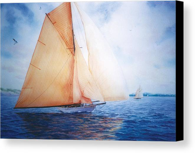 Seacape Canvas Print featuring the painting Syce by Marguerite Chadwick-Juner