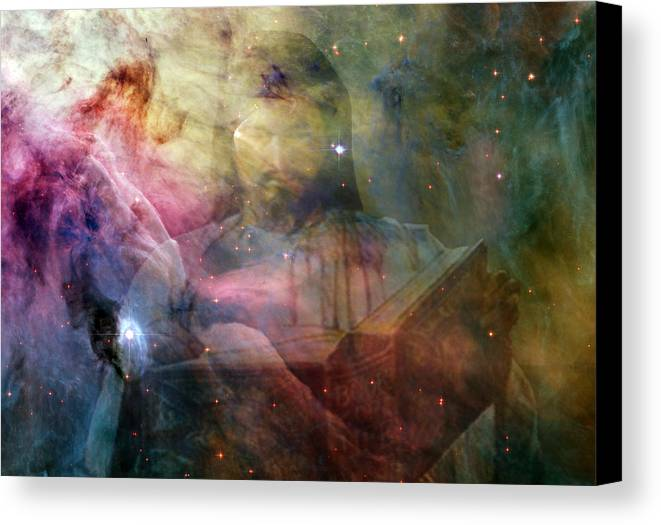 Jesus Canvas Print featuring the digital art The Book by Evelyn Patrick