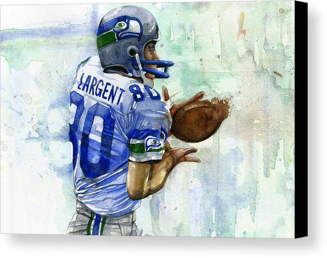 Steve Canvas Print featuring the painting The Largent by Michael Pattison