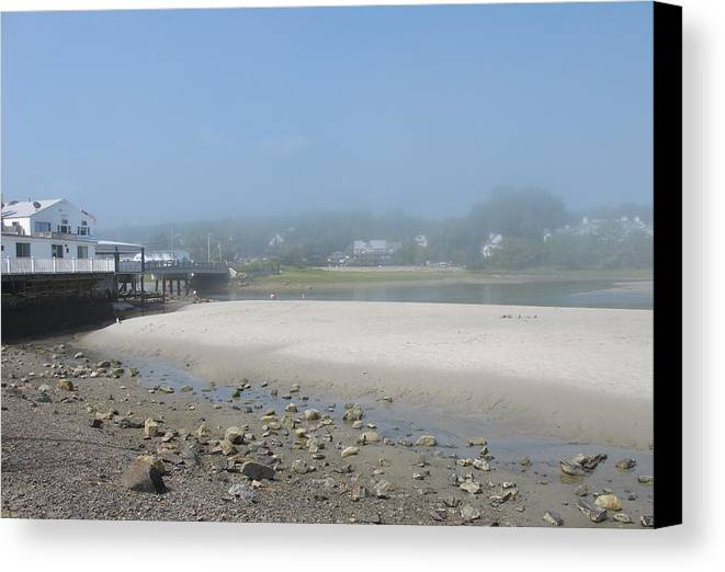 Beach Canvas Print featuring the photograph Tide Is Out by Mary Ellen Mueller Legault