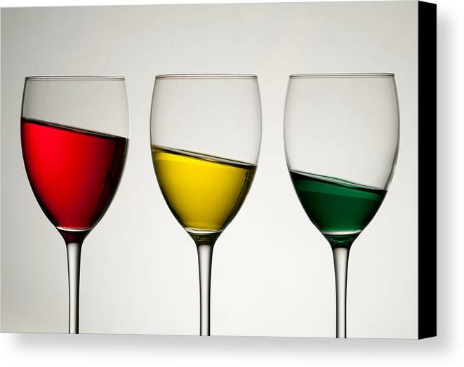 Colour Canvas Print featuring the photograph Tipple by AJM Photography