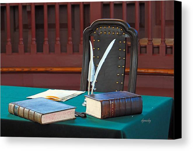 Books Canvas Print featuring the photograph Vermont Bible 3037 by David Mosby