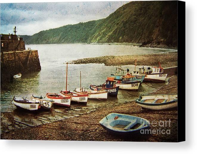 Landscape Canvas Print featuring the photograph Vintage Clovelly by Deborah Smith