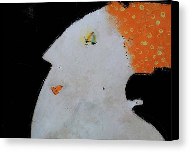 Face Canvas Print featuring the painting Wanderer No. 20 by Mark M Mellon