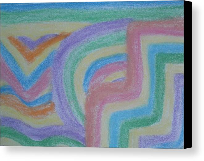 Colorful Canvas Print featuring the drawing Waving Colors by Thomasina Durkay