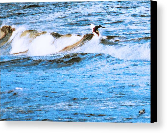 Surfing Canvas Print featuring the photograph Wipeout by CHAZ Daugherty