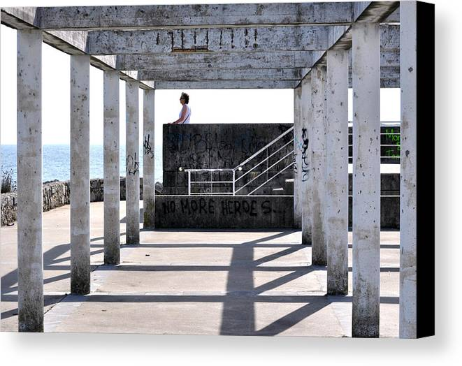 Perspective - Llanes - Asturias Canvas Print featuring the photograph 039 by Patrick King