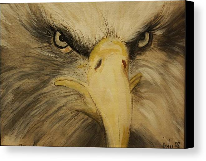 Birds Canvas Print featuring the painting American Eagle by Jody Domingue