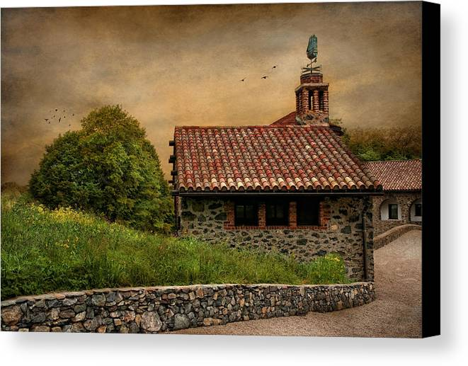 Antiquity Canvas Print featuring the photograph Tucked Away II Set by Robin-Lee Vieira
