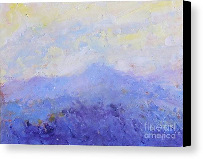 Landscape Canvas Print featuring the painting Sunrise by Fred Wilson
