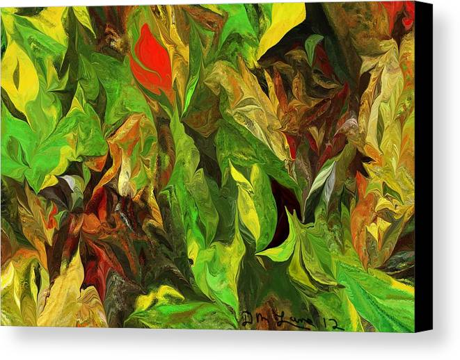 Fine Art Canvas Print featuring the digital art Abstract 090512a by David Lane