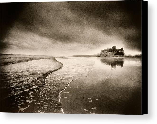 Halloween Canvas Print featuring the photograph Bamburgh Castle by Simon Marsden