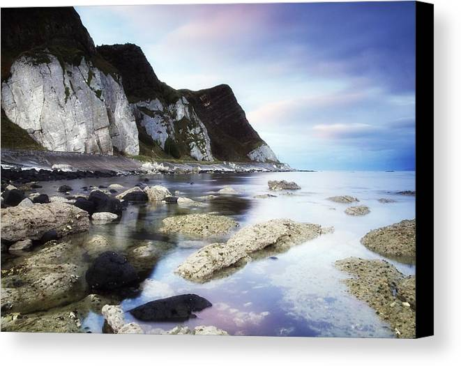 Atmosphere Canvas Print featuring the photograph Coast Between Carnlough & Waterfoot, Co by The Irish Image Collection
