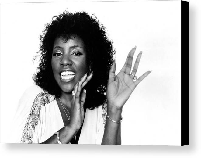 Disco Canvas Print featuring the photograph Gloria Gaynor, Circa 1980 by Everett