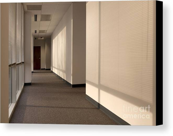 Airy Canvas Print featuring the photograph Hallway Of An Office Building by Will & Deni McIntyre