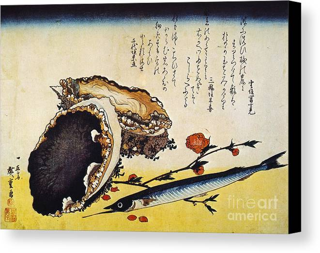 1832 Canvas Print featuring the photograph Hiroshige: Color Print by Granger