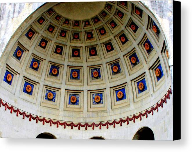 Dome Canvas Print featuring the photograph Looking Up by Laurel Talabere