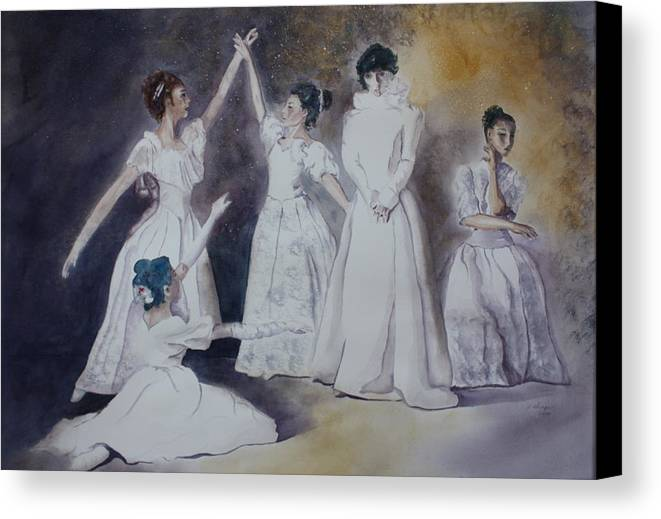 Ballet Dancers Canvas Print featuring the painting Magic by Patsy Sharpe