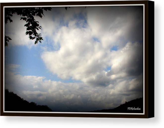 Clouds Canvas Print featuring the photograph Ominous by Priscilla Richardson