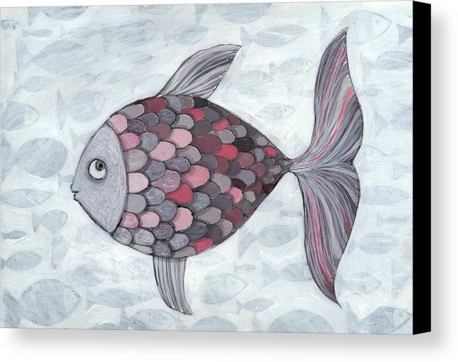 Horizontal Canvas Print featuring the photograph Pink Fish by Georgiana Chitac