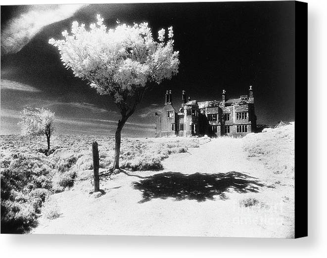 Hall; Ghostly; Ruin; Architecture; Haunted House Canvas Print featuring the photograph Plas Pren by Simon Marsden