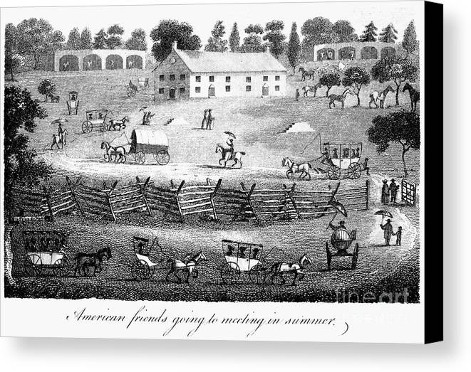 1811 Canvas Print featuring the photograph Quaker Meeting, 1811 by Granger