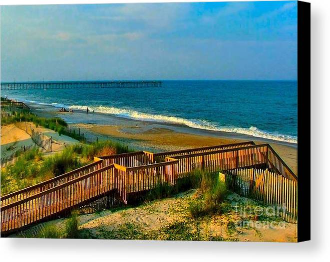 Canvas Print featuring the photograph Rodanthe On The Outer Banks by Julie Dant