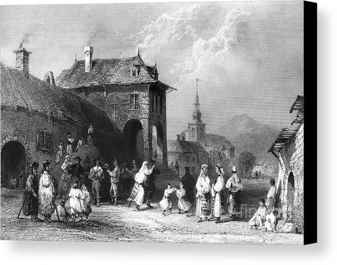 1844 Canvas Print featuring the photograph Romania: Wedding by Granger