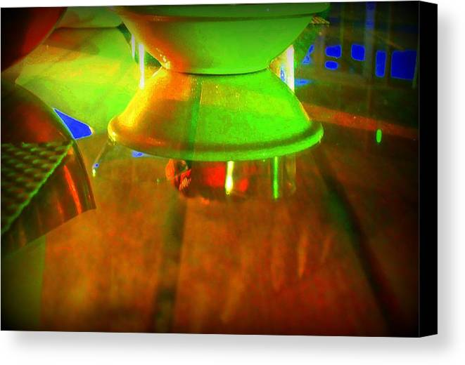 Table Canvas Print featuring the photograph Table Topsy Turvy by Randall Weidner