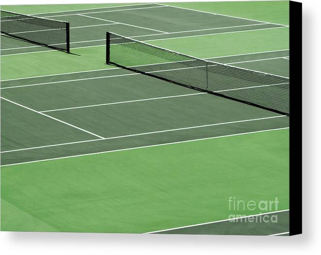 Sport Canvas Print featuring the photograph Tennis Court by Blink Images