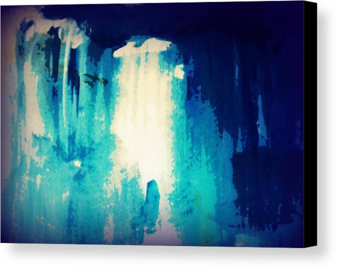 Canvas Print featuring the painting Textle Spa 50 by Wendy Wiese
