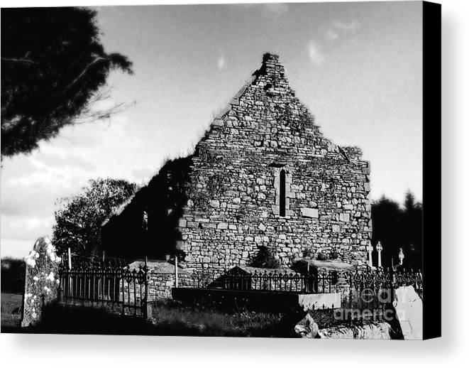 Ireland Canvas Print featuring the photograph The Abbey by Lisa Schafer