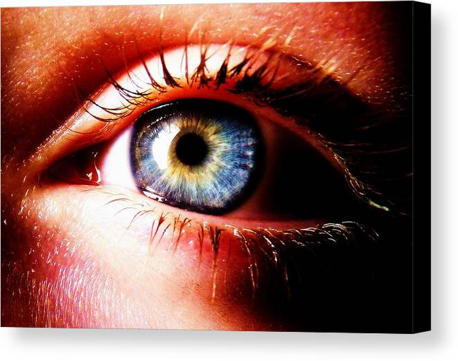 Eye Canvas Print featuring the photograph This Window To The Soul by Eleanor Bennett