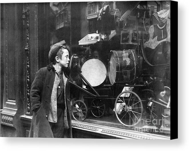 20th Century Canvas Print featuring the photograph Window Display, C1910 by Granger