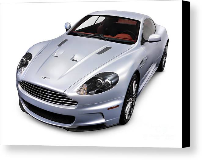 2009 Canvas Print featuring the photograph 2009 Aston Martin Dbs by Oleksiy Maksymenko
