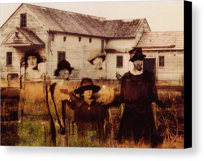 Farm Canvas Print featuring the photograph The Woodbine Turned Red by Brande Barrett