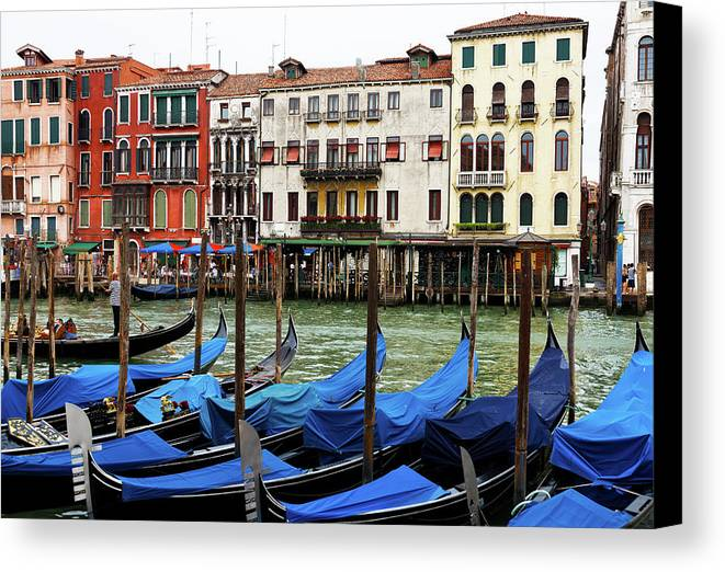 Venice Canvas Print featuring the photograph Gondola, Canals Of Venice, Italy by Bruce Beck