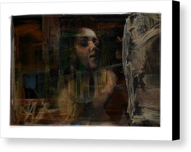 Portrait Canvas Print featuring the digital art Bust by Nuff