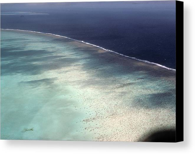 Aerial View Canvas Print featuring the photograph Great Barrier Reef In Australia by Carl Purcell