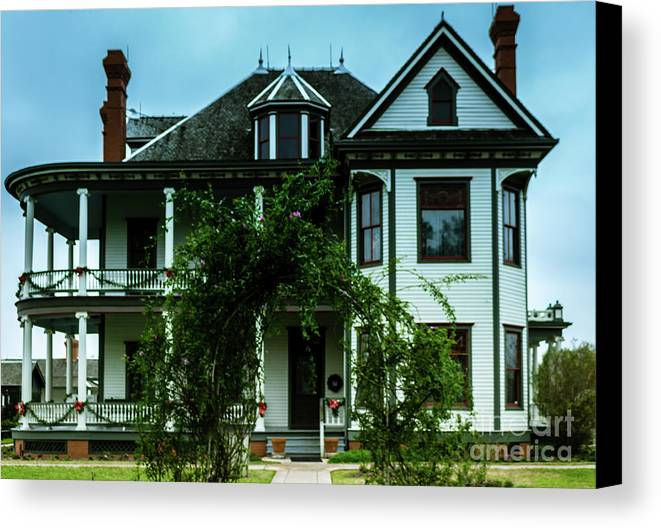 House Canvas Print featuring the photograph 20th Century Mansion by JB Thomas
